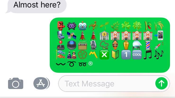 Emojis in a text