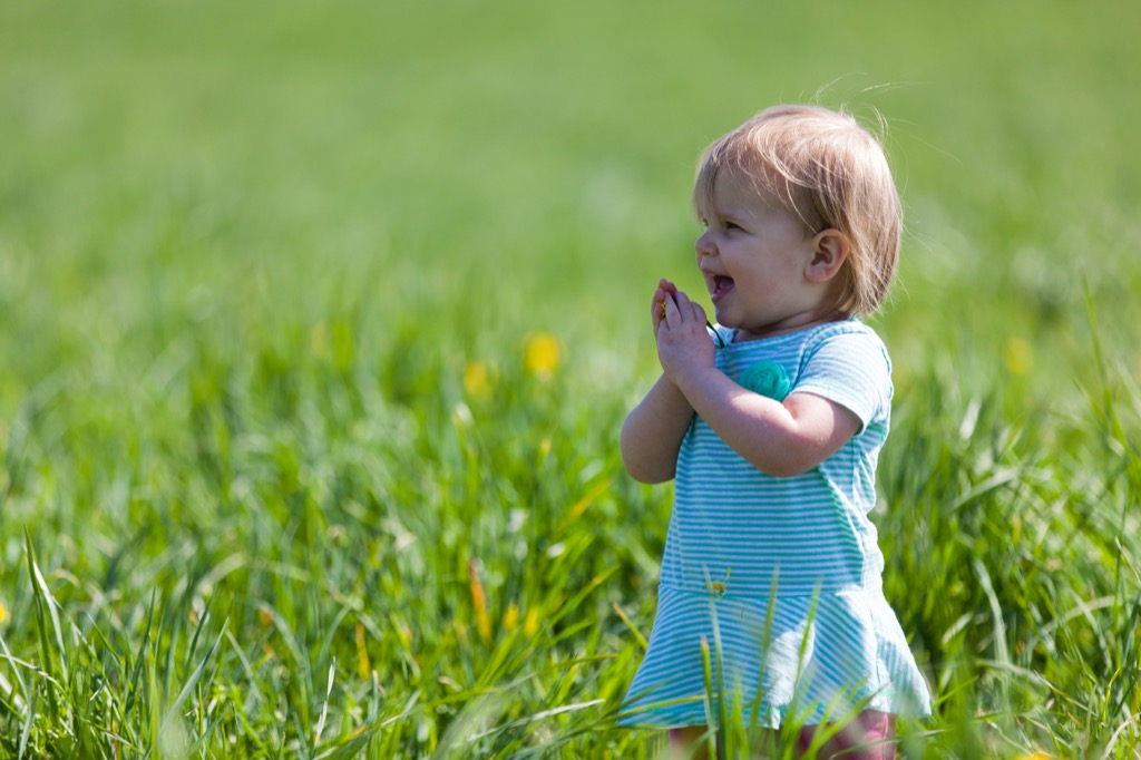 Baby outdoors
