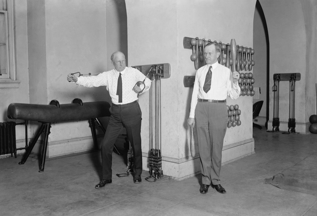 Calvin Coolidge in Capitol Gym