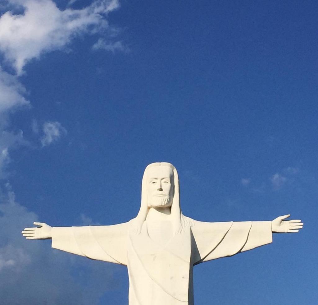 Jesus statue Arkansas