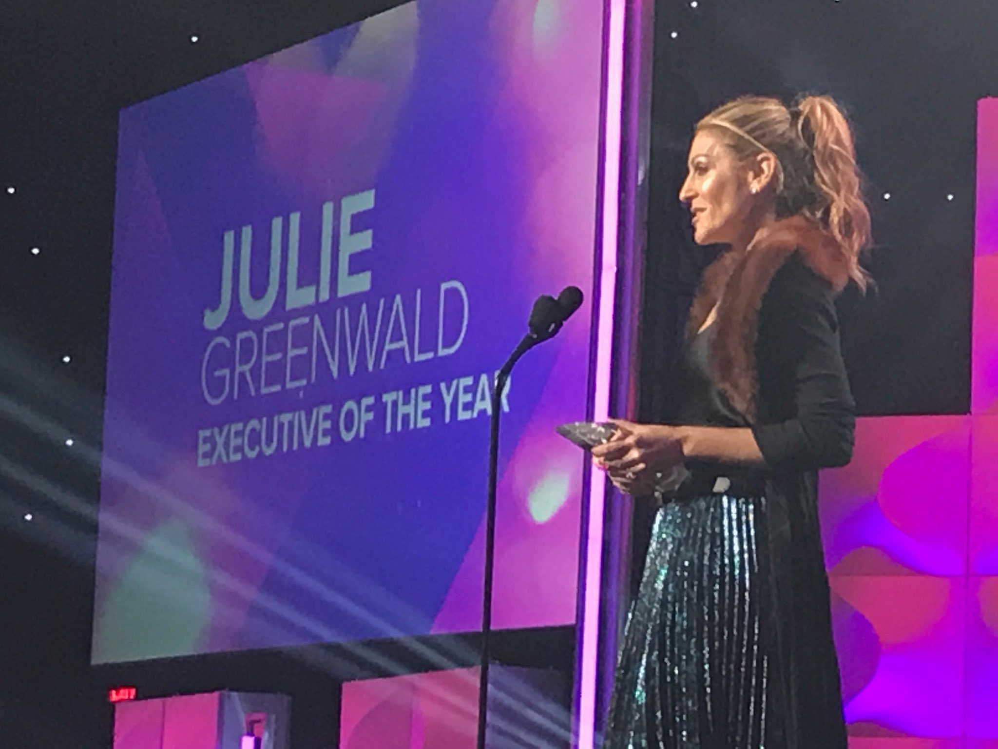julie greenwald at the woman in music awards
