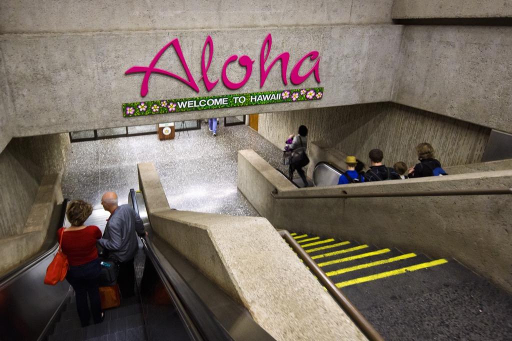 Honolulu airport interior