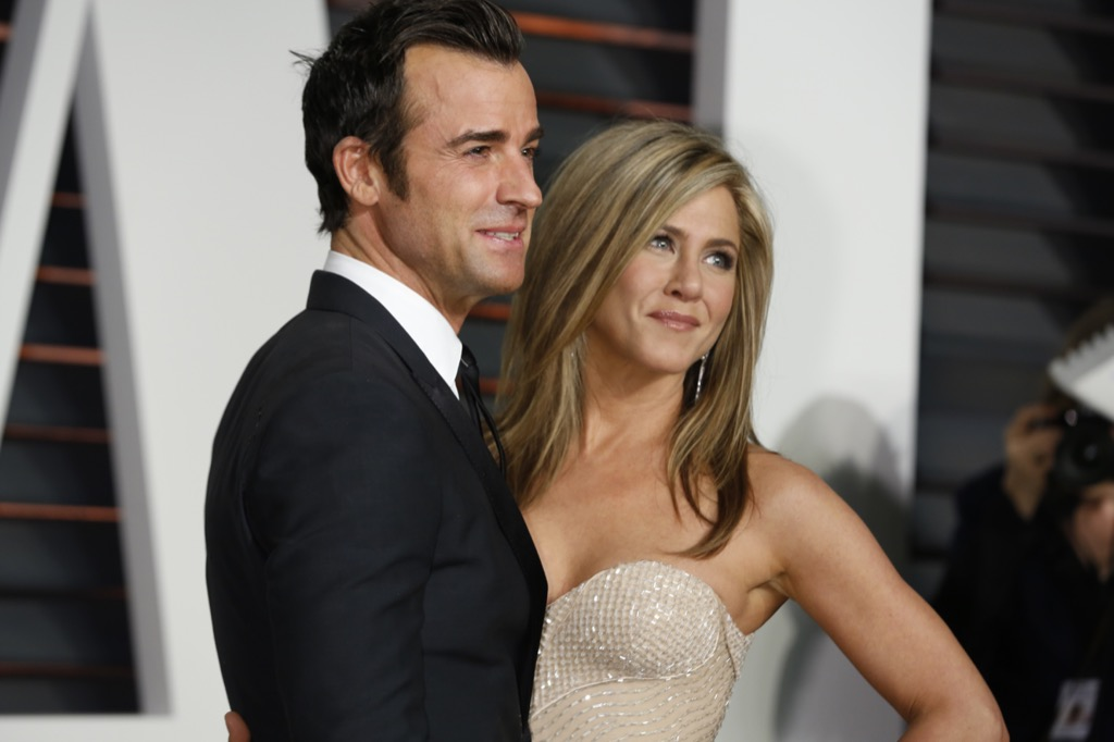 Justin Theroux and Jennifer Aniston home 2018 pop culture