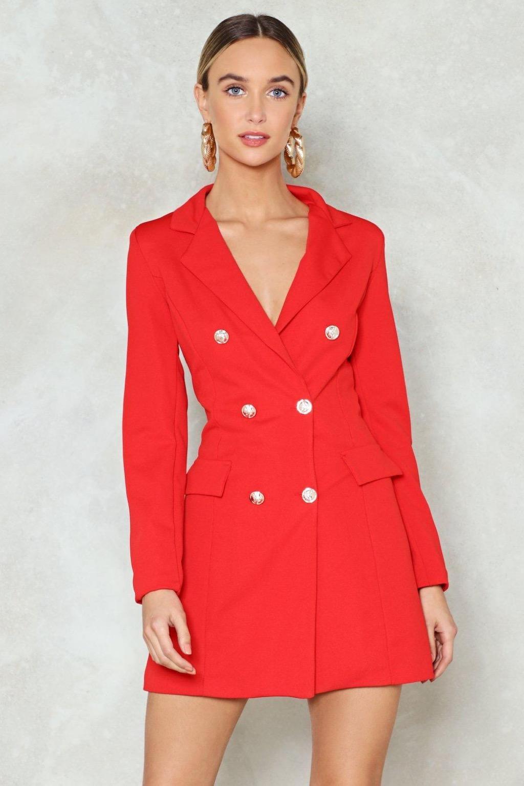 Nasty gal red dress