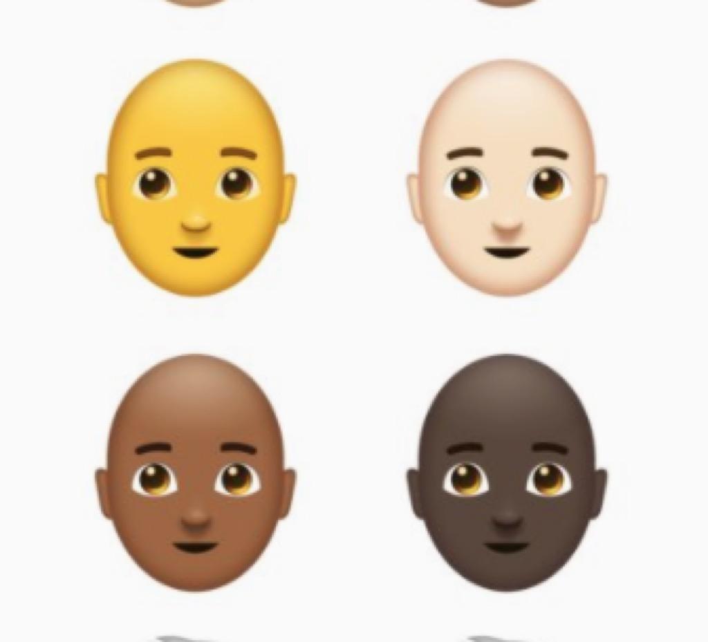 bald people emojis