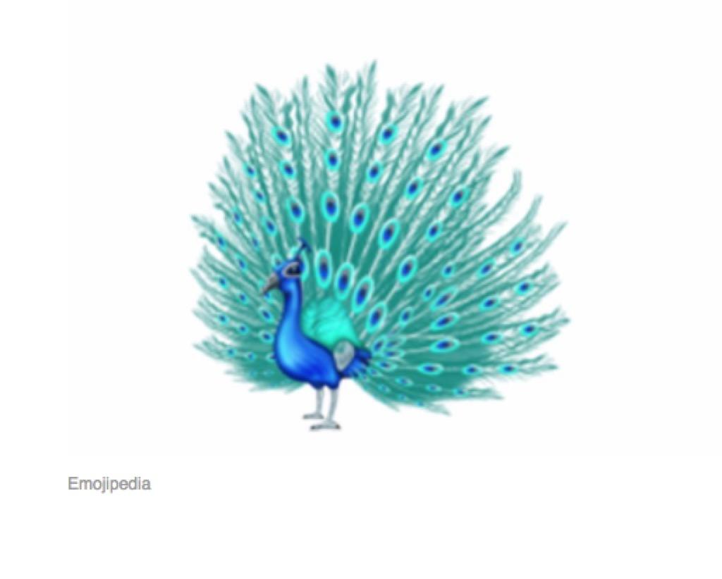 peacock emoji