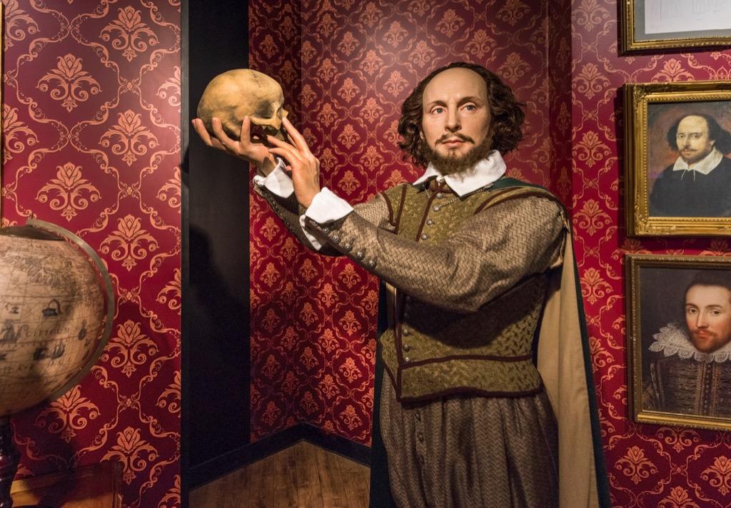 Shakespeare wax figure