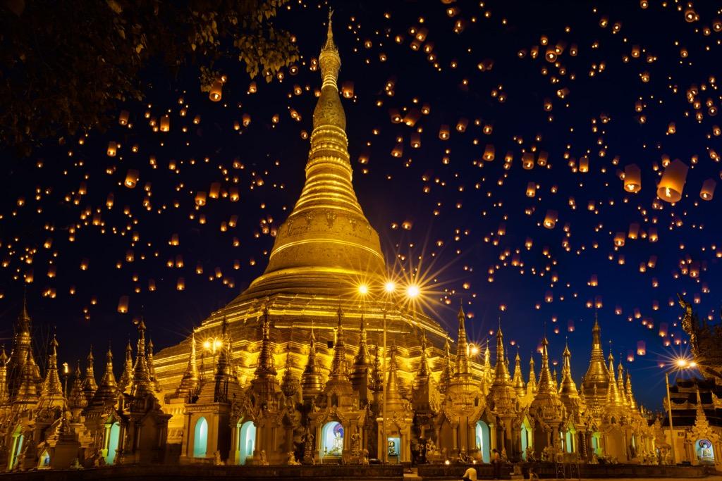 Shwedagon Paya monastery