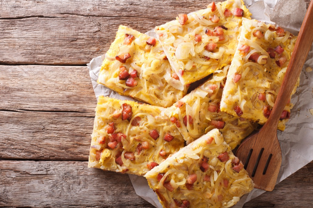 bacon quiche unhealthiest holiday finger foods
