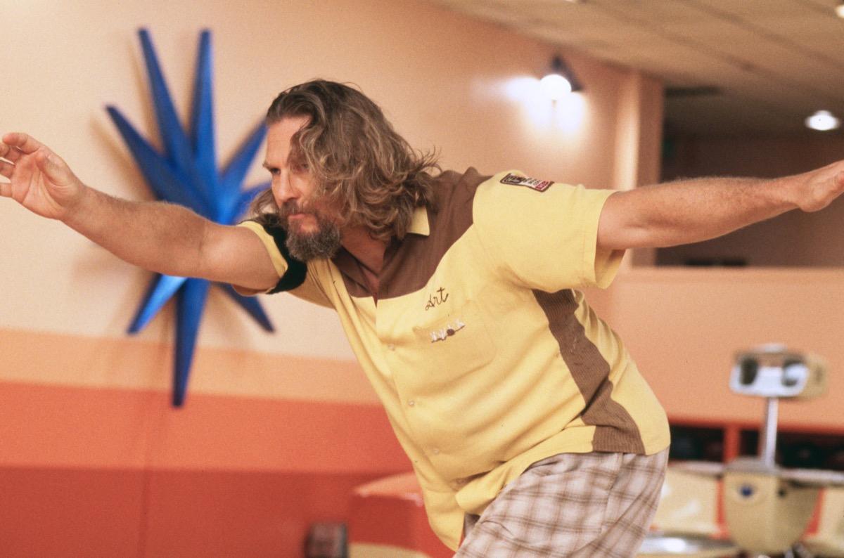 Jeff Bridges in Big Lebowski wearing bowling shirt