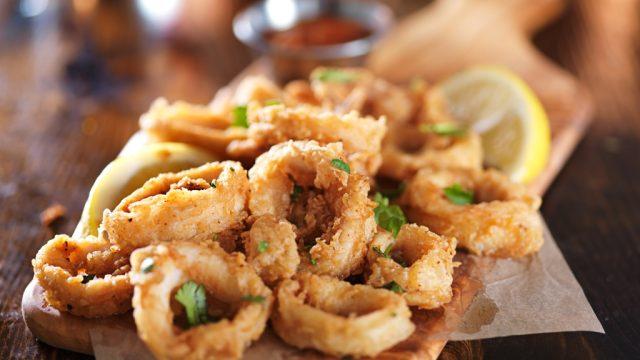 calamari unhealthiest holiday finger foods
