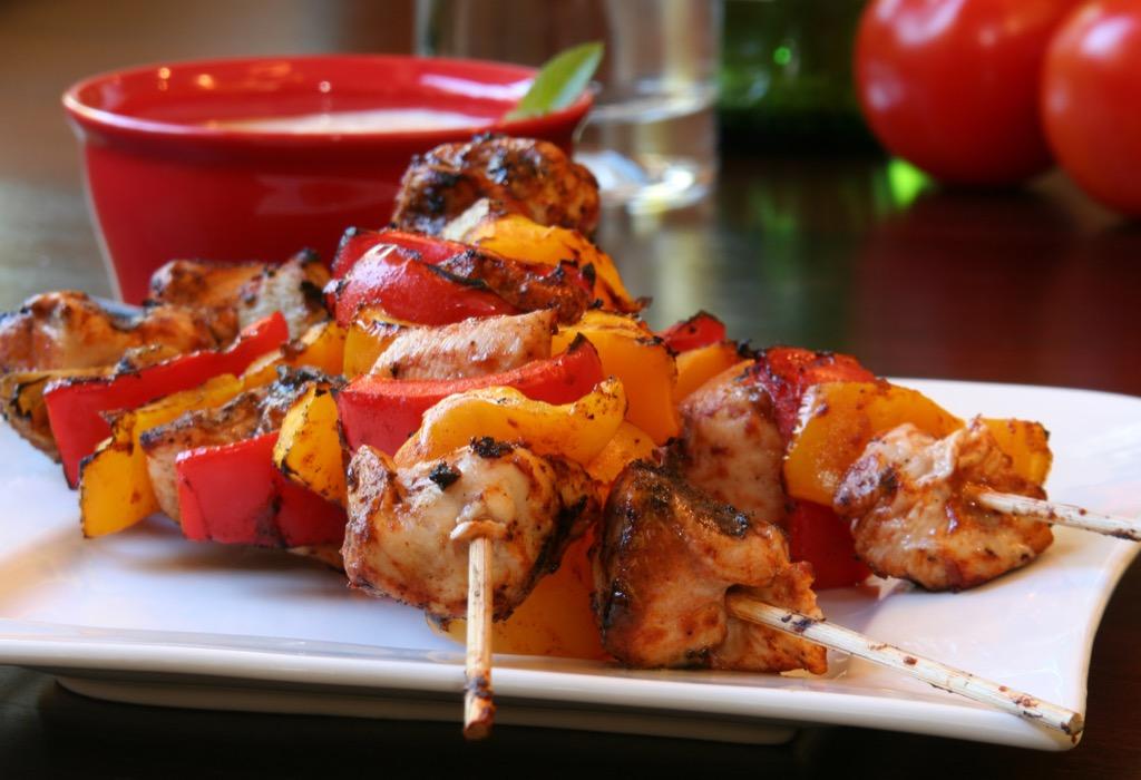 chicken kebob healthiest holiday finger foods