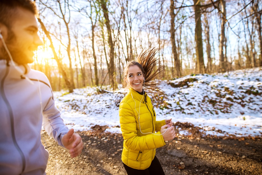 Couple running together Lower Blood Pressure