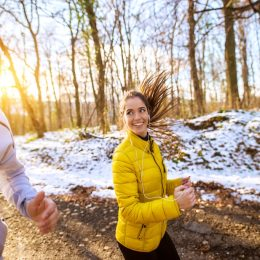 Couple running together one of their new habits