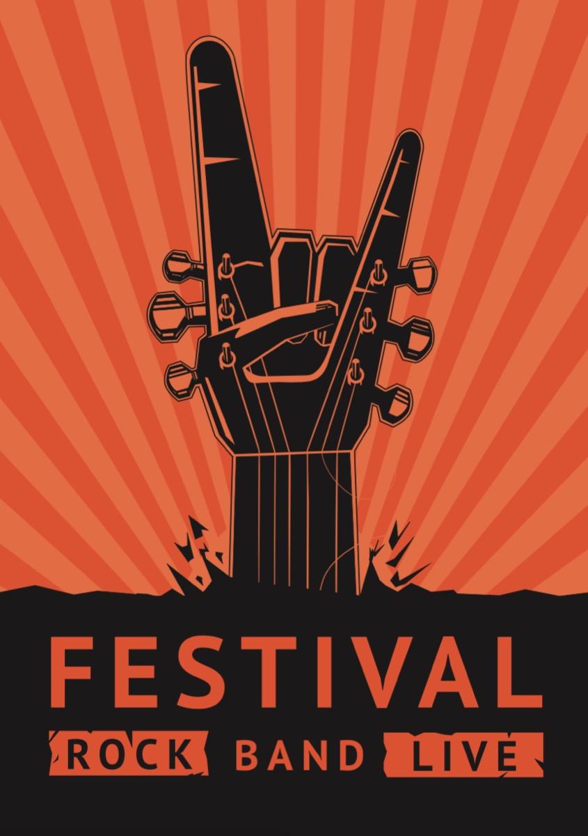 generic rock music festival poster