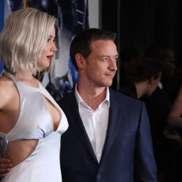 jennifer lawrence and james mcavoy at the x-men premiere