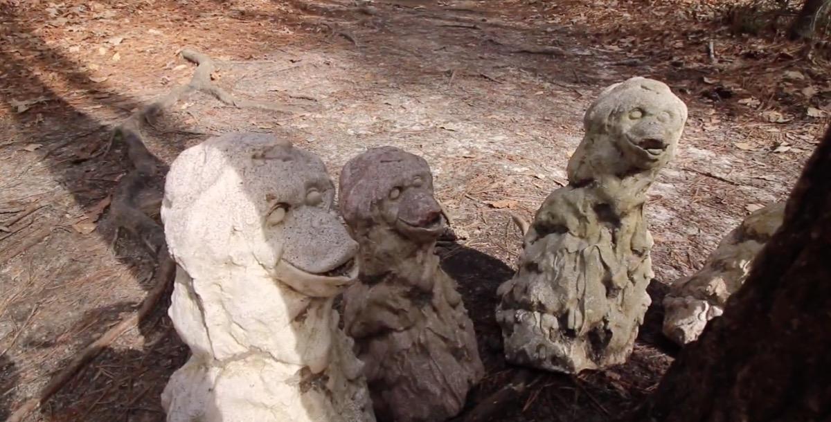 monkey massacre statue