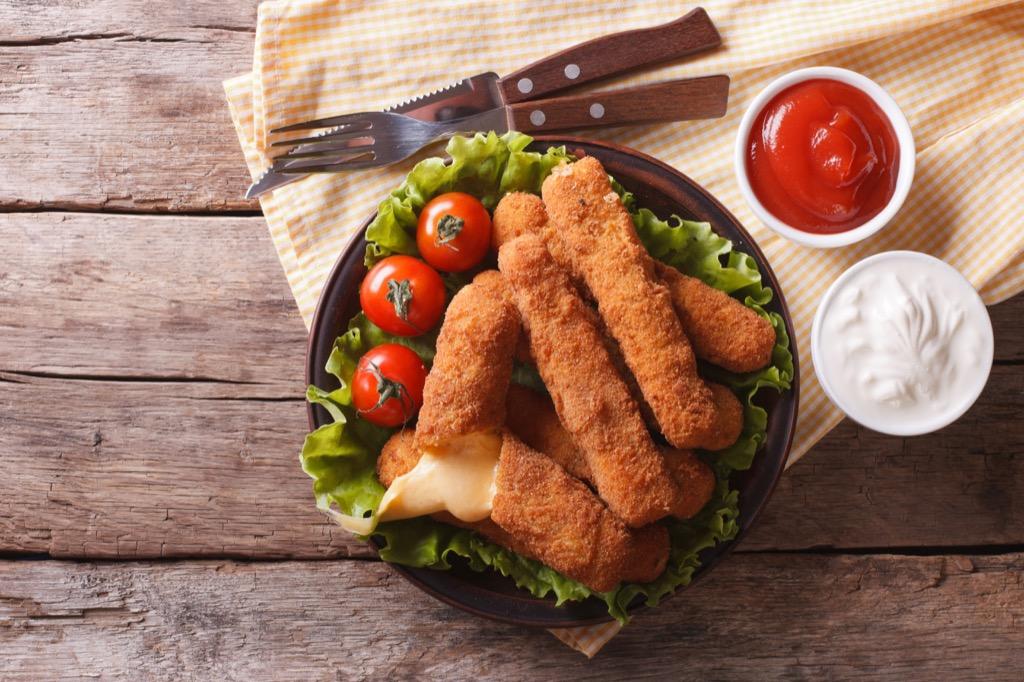 mozzarella sticks unhealthiest holiday finger foods