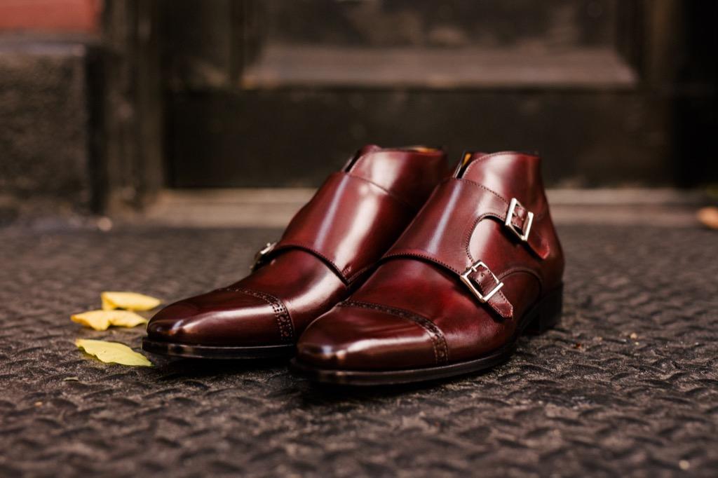 paul evans double monk strap boot