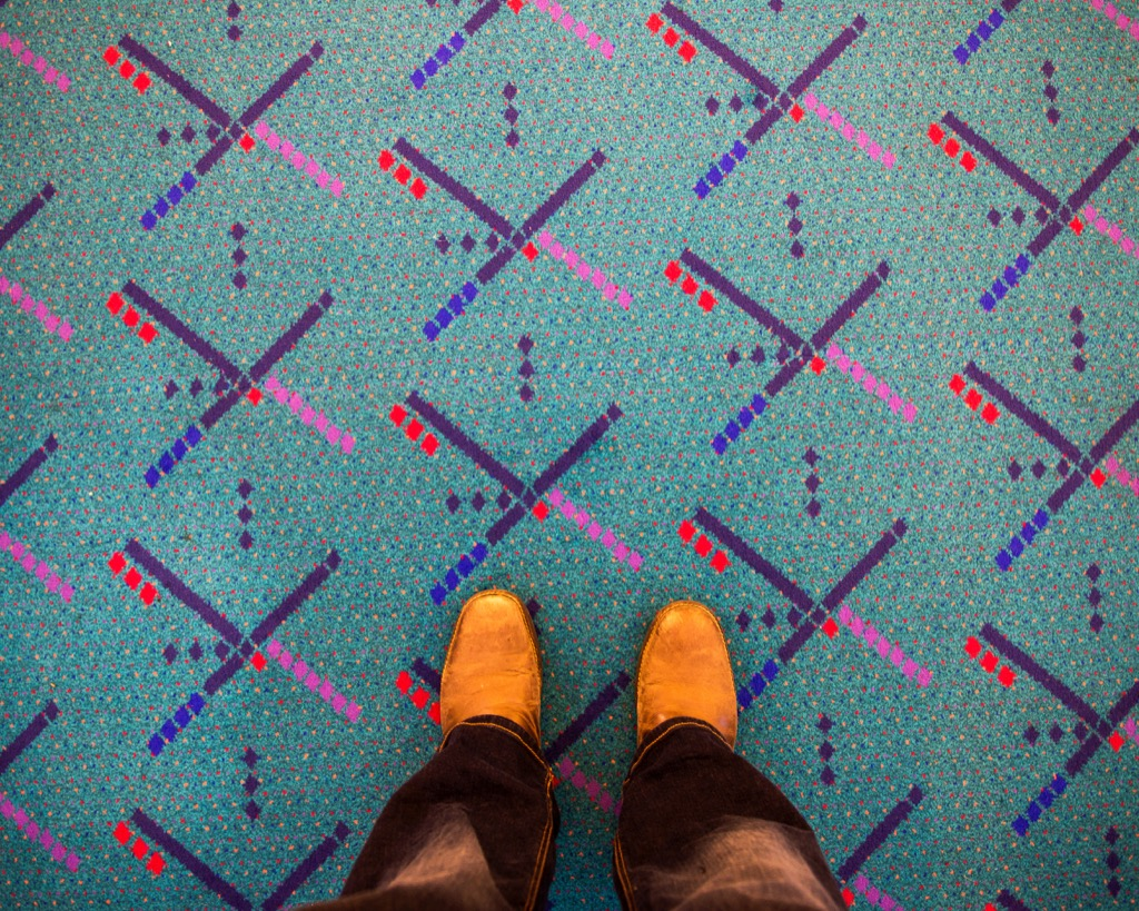 Portland airport carpet