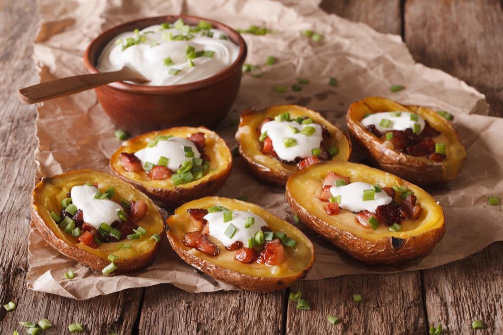 potato skins unhealthiest holiday finger foods