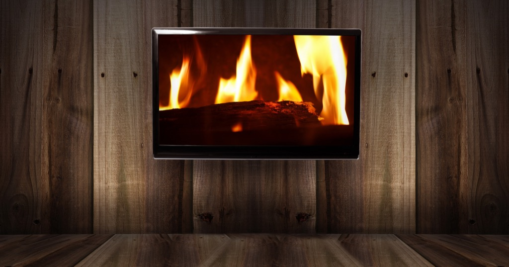 fake fireplaces are bad xmas tradition