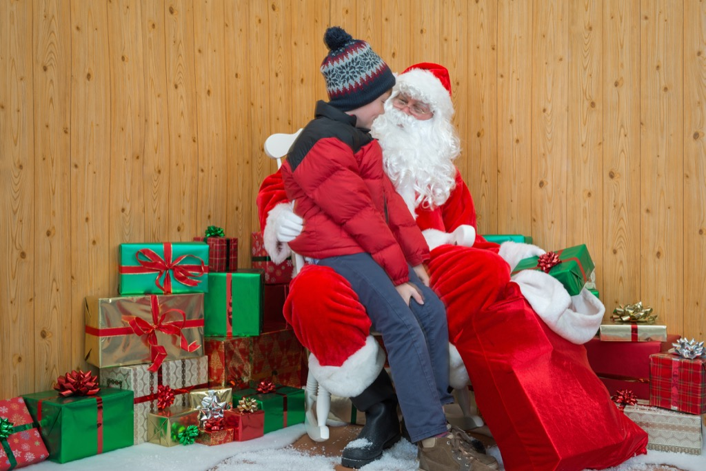Mall Santa and kid, Pick-Up Lines So Bad They Might Just Work