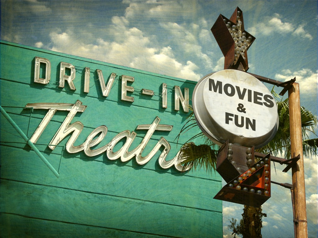 drive in movie theater, date night ideas