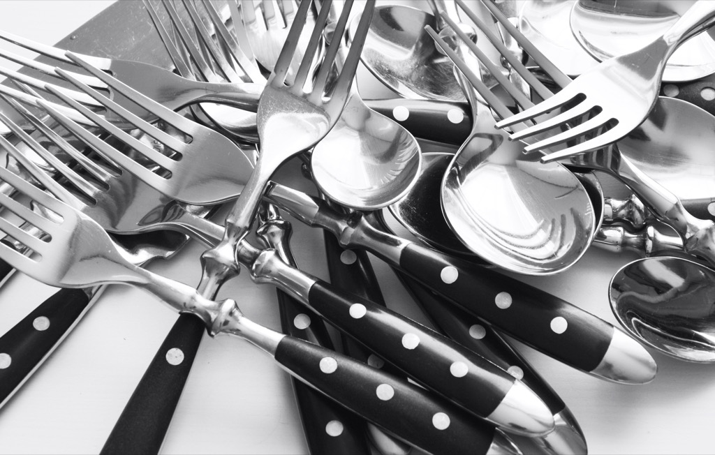 no woman over 40 should have mismatched silverware