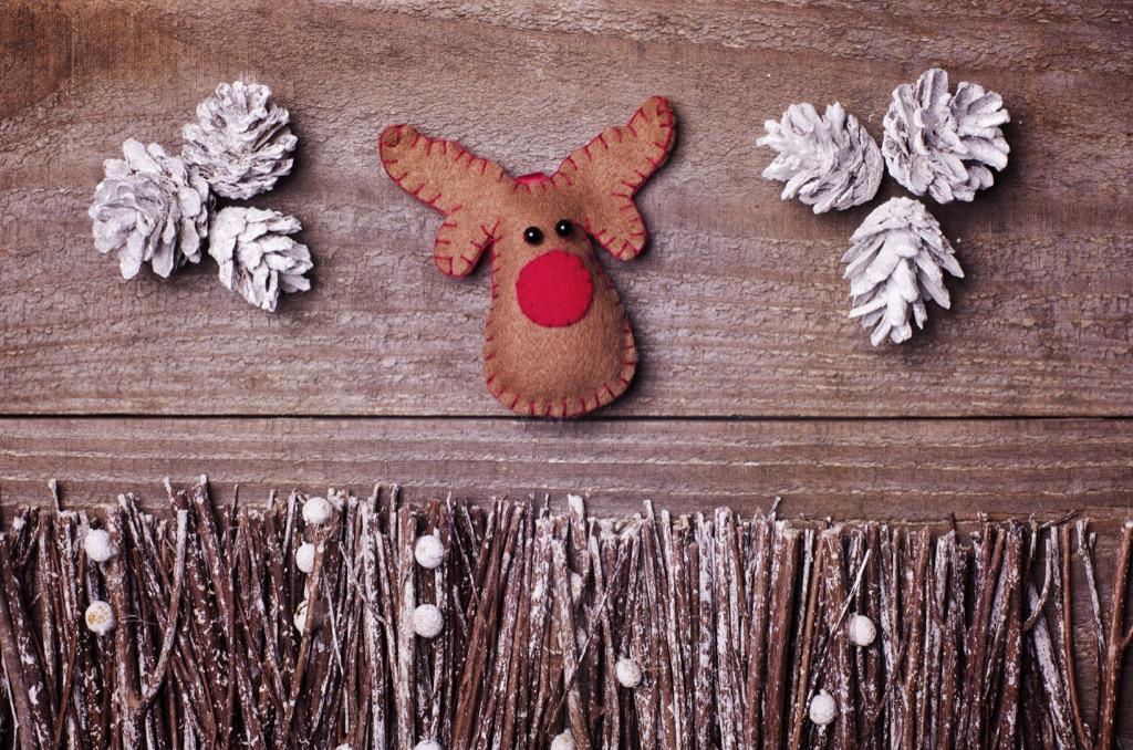 Felt Rudolph decoration