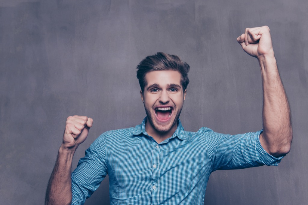 Man is Excited {Weight Loss Secrets}