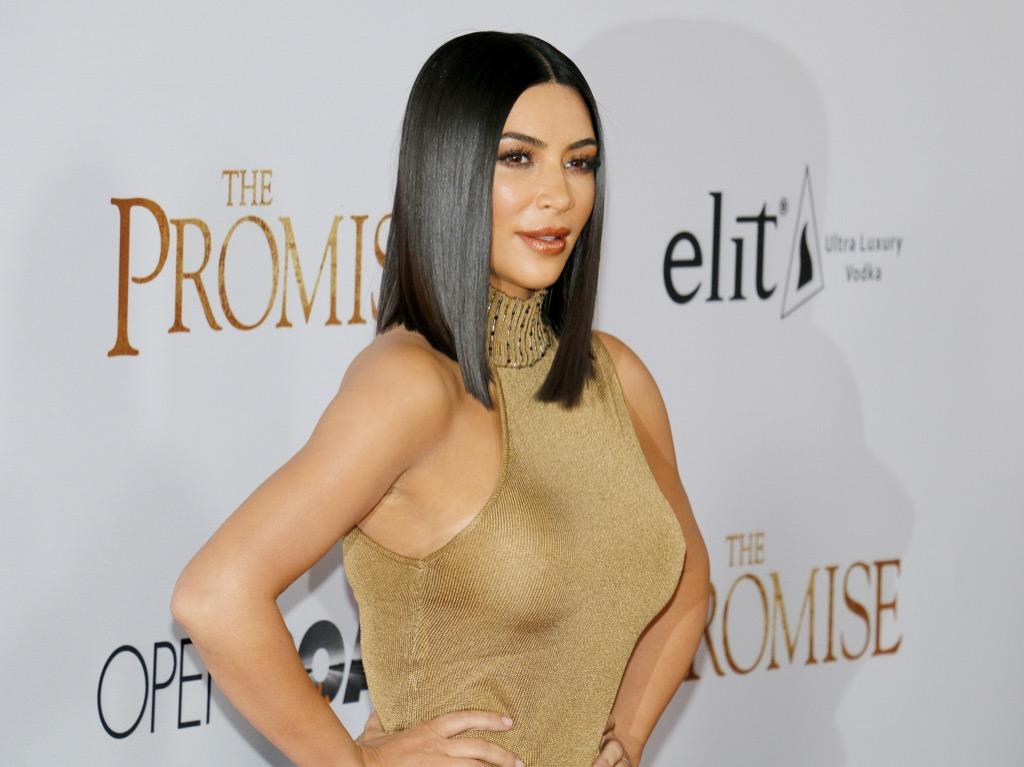 Kim Kardashian long bob