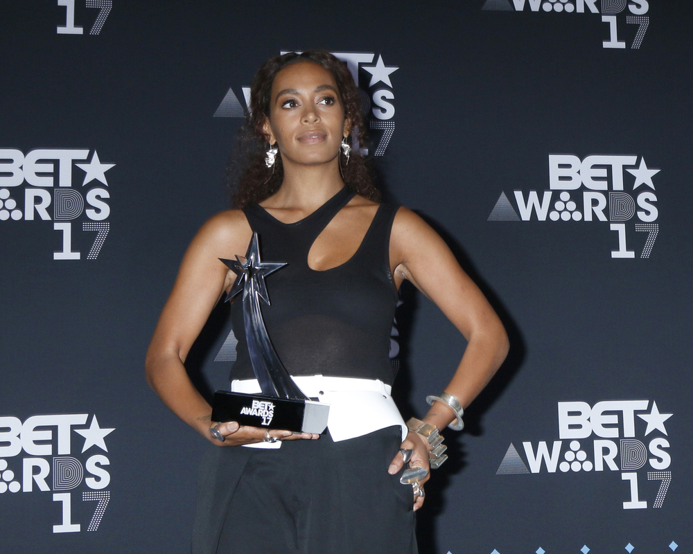 Solange Knowles at the 2017 BET Awards - Press Room at the Microsoft Theater on June 25, 2017 in Los Angeles, CA
