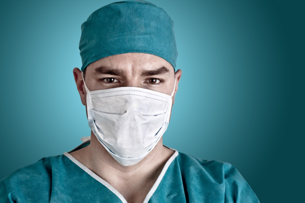 Doctor in surgical mask - gynecologist secrets