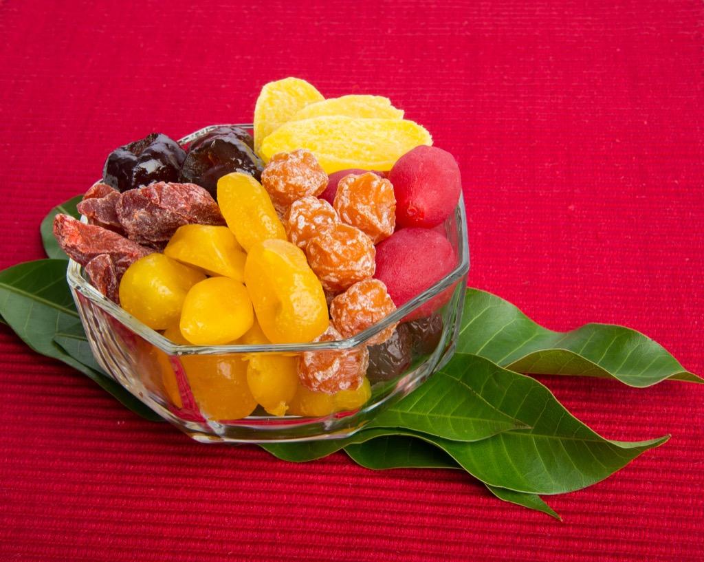 Potassium vitamins and fruit.