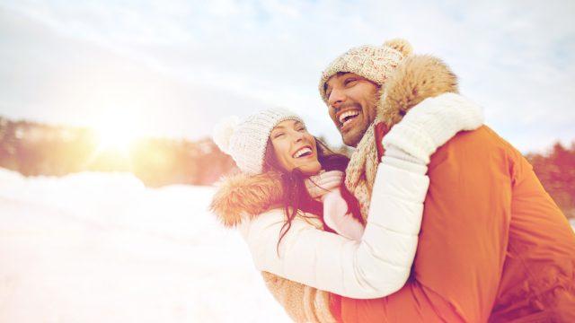 stay warm couple in winter