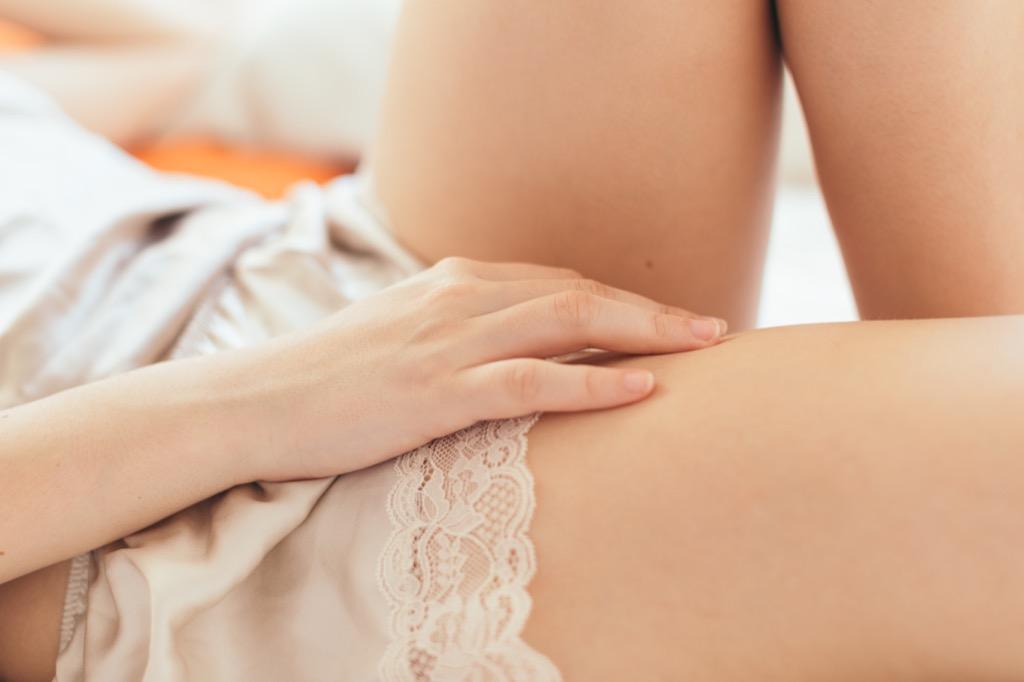 Lace slip - gynecologist secrets