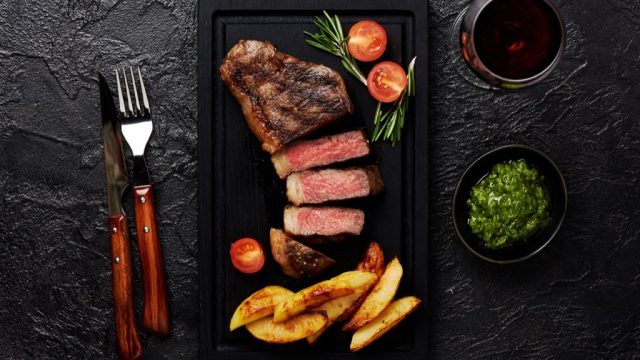 Perfect steak.