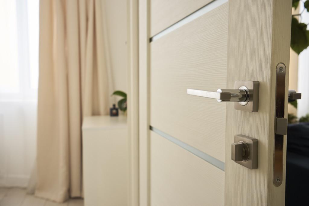 White bedroom door DIY home hacks