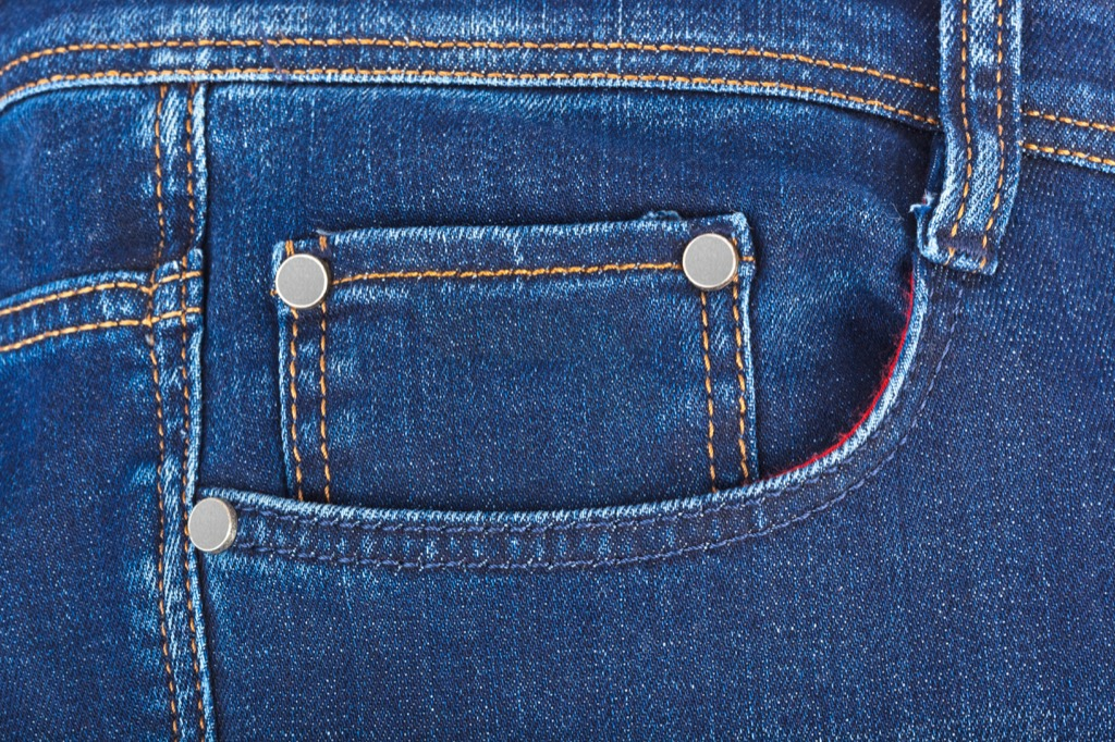 Small jeans pocket