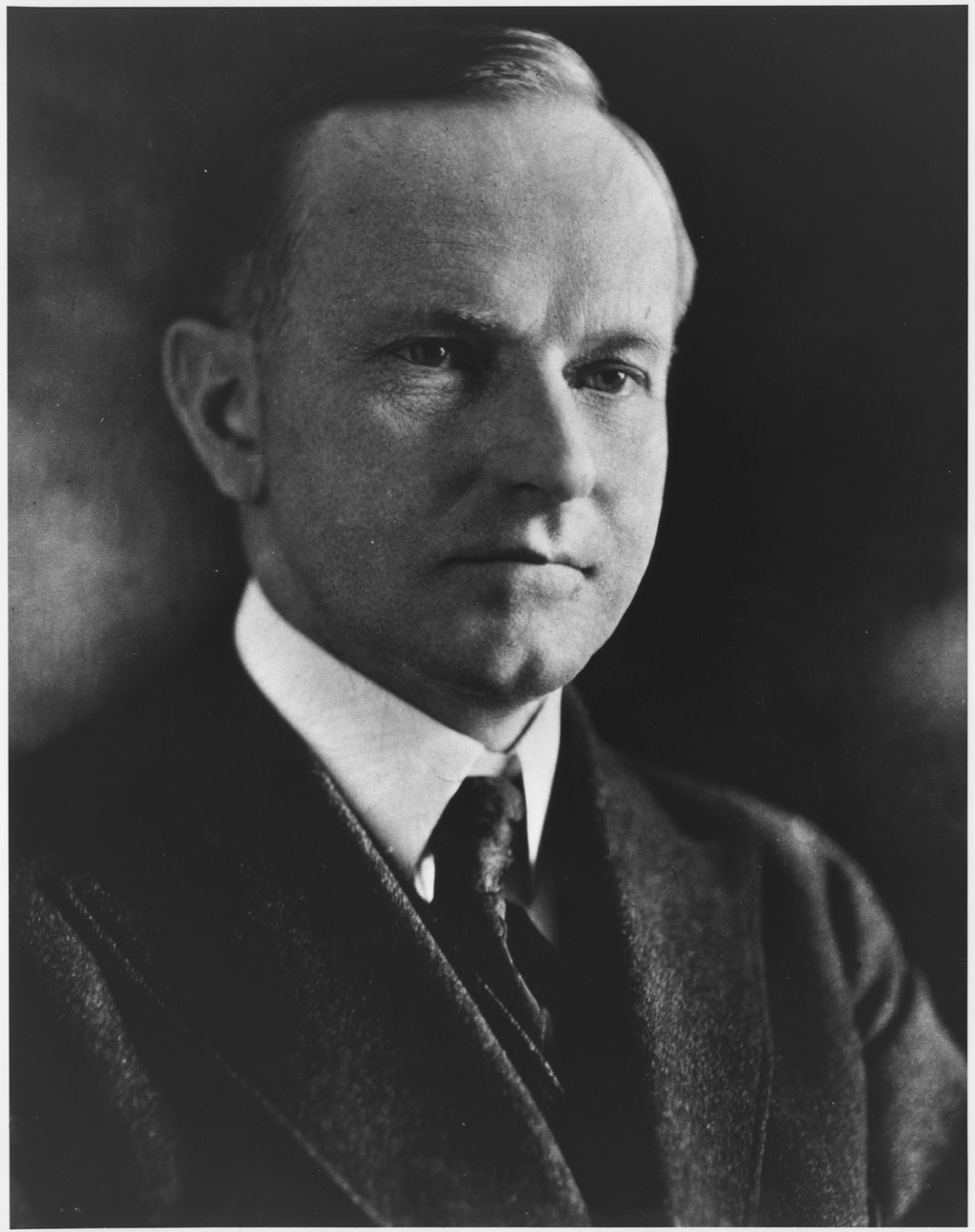 President Calvin Coolidge. Ca. 1923-1928. From 1907 to 1920, Coolidge worked his way up Massachusetts State politics to election as Governor in 1918.