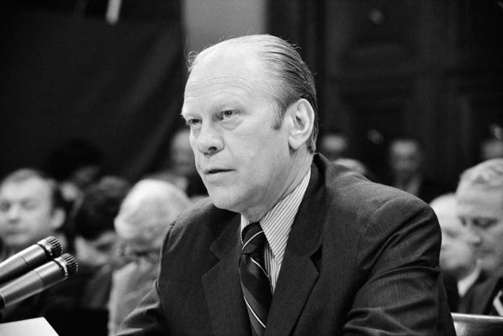 Gerald Rudolph Ford, born Leslie John Lynch, Nixon's Vice-President and 38th President of the United States of America (1973-1974) when Nixon resigned