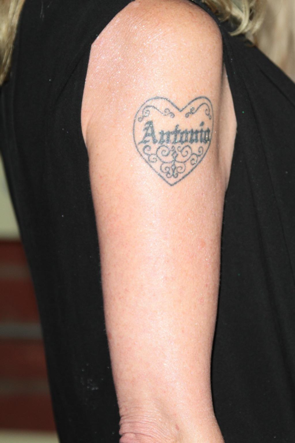 Melanie Griffith Antonio tattoo