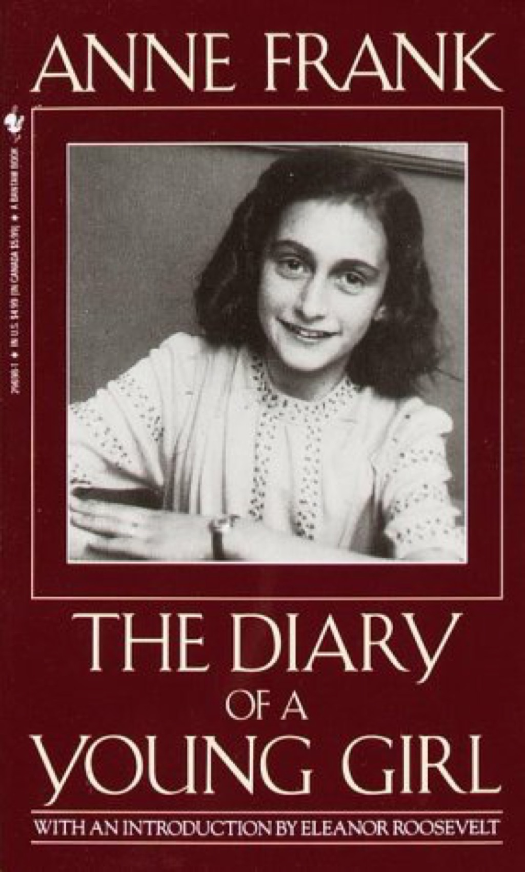 """Anne Frank """"The Diary of a Young Girl"""" book cover"""