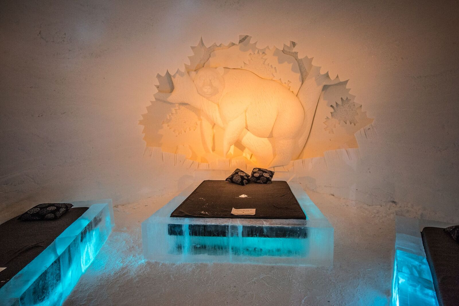bear suite in ice hotel in finland