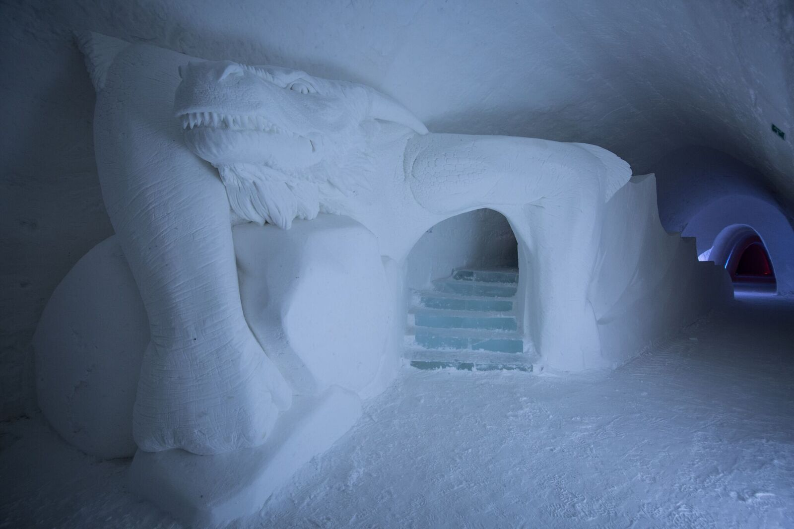 dragon slide in game of thrones hotel in finland