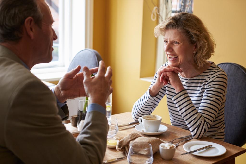 elderly couple having breakfast, Dating Profile Tips