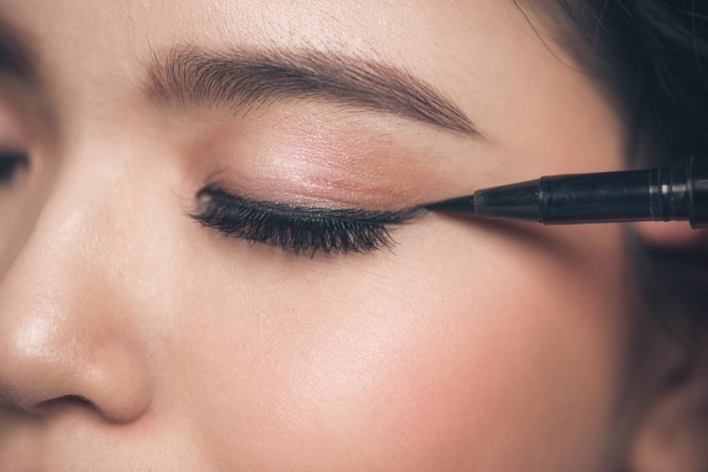 eyeliner makeup woman, makeup for older women