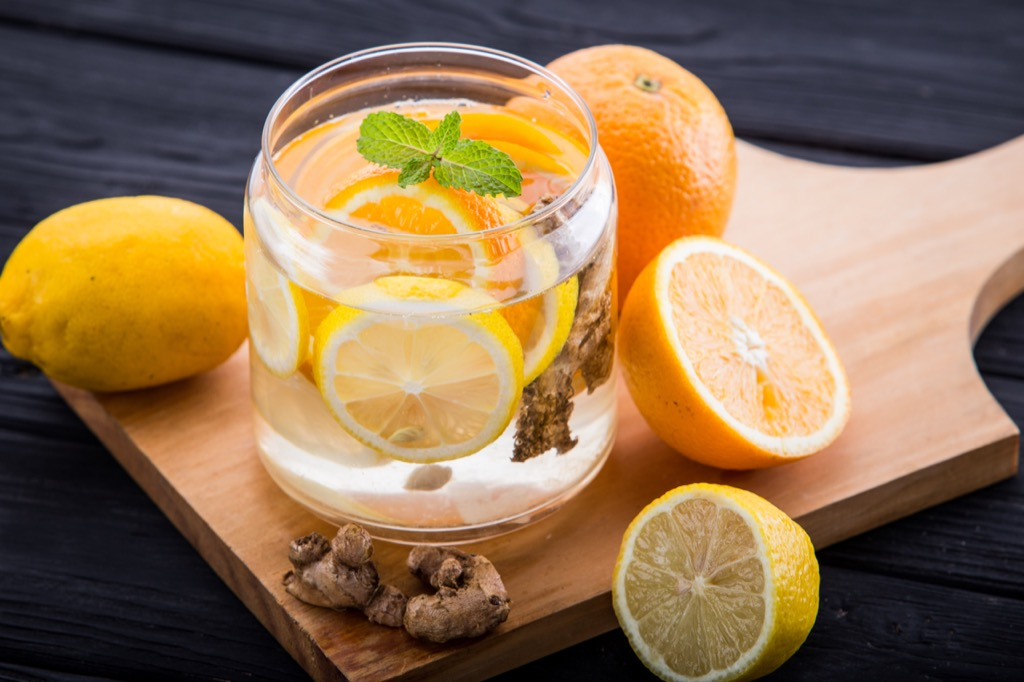 ginger orange lemon water hangover cures