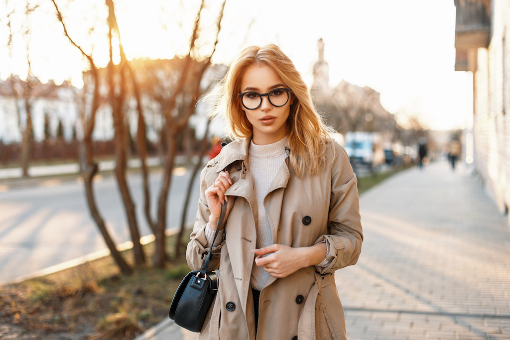 Woman Wearing Coat Surprising Features on Your Clothes